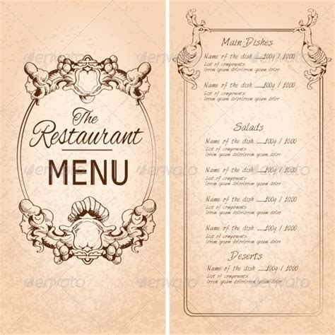 restaurant menu template by macrovector graphicriver