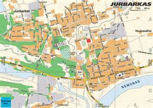 towns map jurbarkas lithuania detailed town city map free