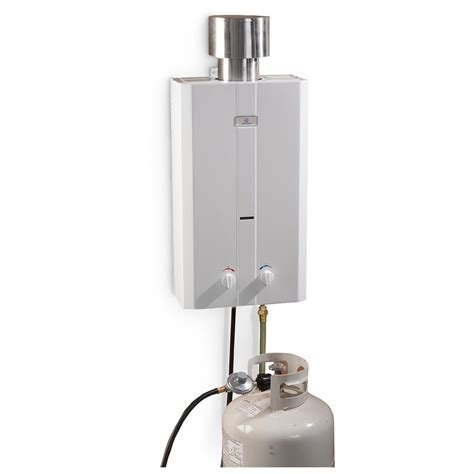 portable propane water heater eccotemp l10 portable outdoor tankless water heater