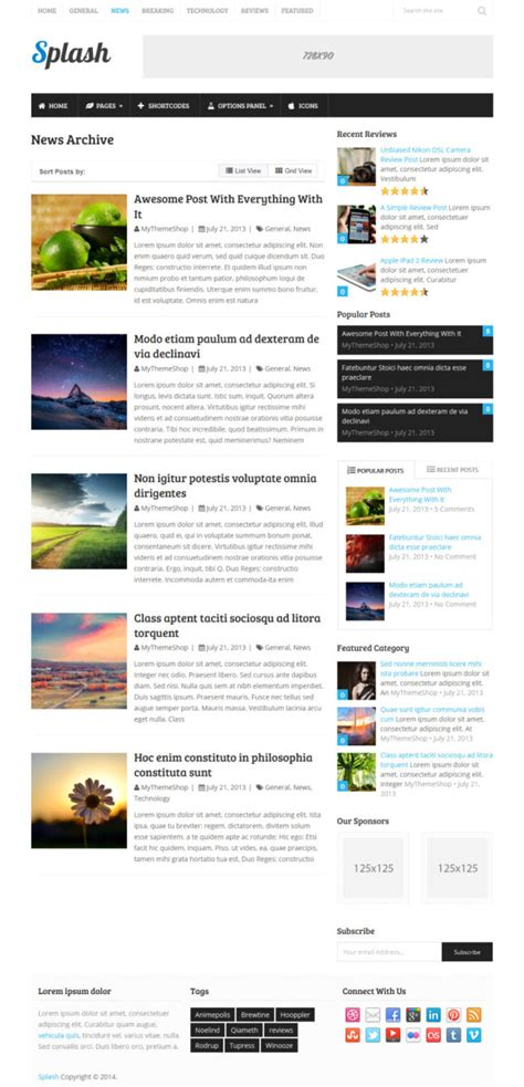 wordpress template archive images templates design ideas