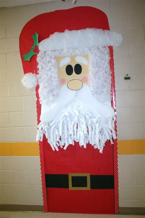 Santa Door Decoration by Santa Hat Decorating Contest Ideas Myideasbedroom