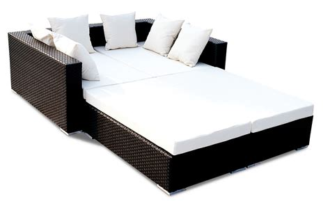 Wicker Sofa Beds China Pe Wicker Garden Sofa Bed Bz Sf015 China Wicker Garden Sofa Bed Sunbed