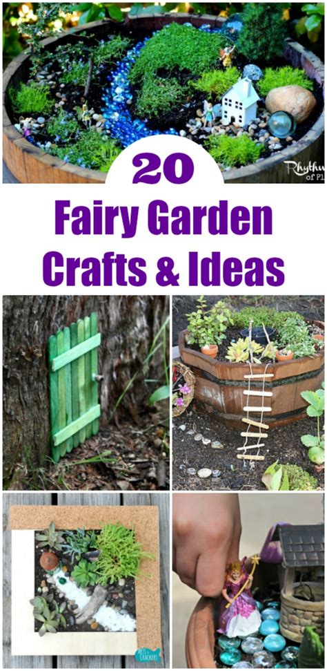 gardening crafts for 20 play mini garden ideas edventures with