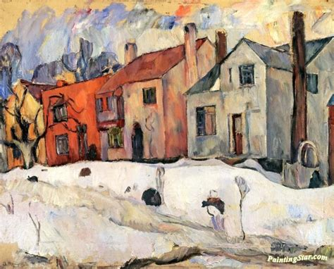 Painting Yonkers by Winter In Yonkers Artwork By Abraham A Manievich