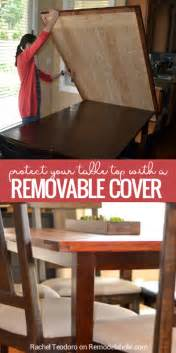remodelaholic how to build a removable planked table top cover
