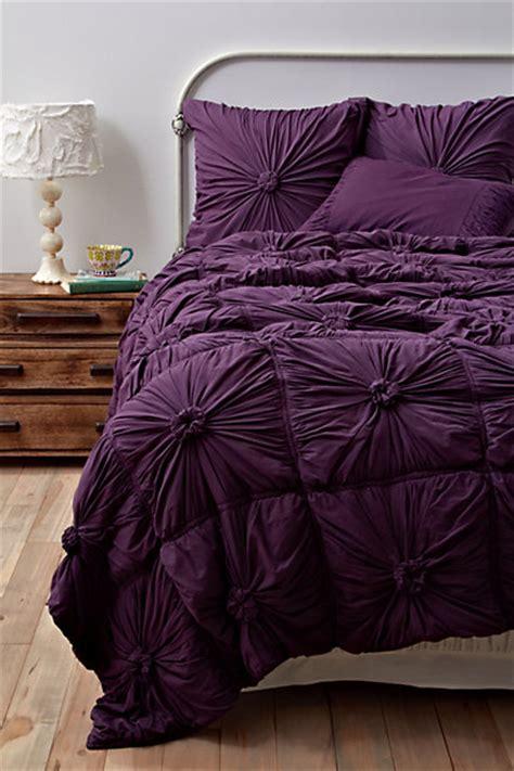 anthropologie comforter set rosette quilt purple anthropologie com