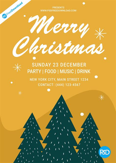 christmas flyer poster design psd
