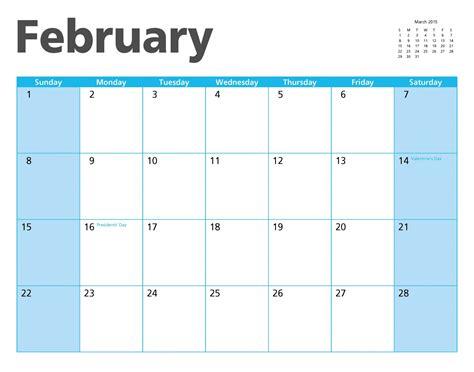 Calendar Of February 2015 February 2015 Calendar Page Free Stock Photo