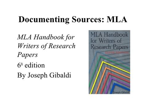 mla handbook for writers of research papers mla handbook for writers of research papers 6th edition