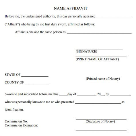 sworn statement template 12 download free documents in pdf
