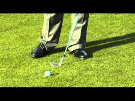 videojug golf swing driver pitching drill to avoid fat thin shots