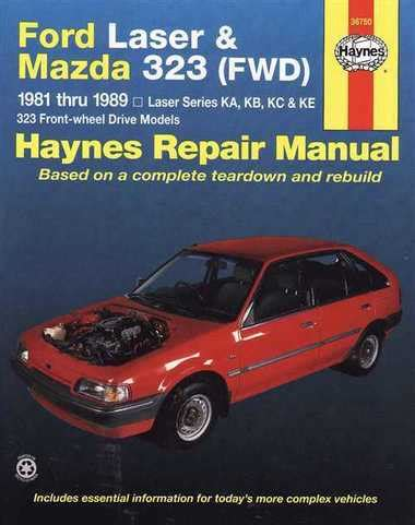 how make cars 1989 ford laser electronic toll collection ford laser mazda 323 1981 1989 workshop manual