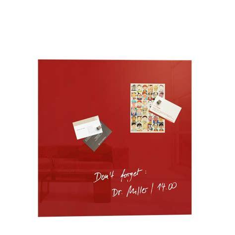 lavagne ufficio lavagna magnetica artverum sigel 48x48 cm rosso