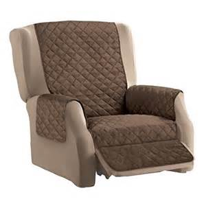 Quilted Recliner Covers Reversible Quilted Furniture Cover Chocolate Recliner Walmart