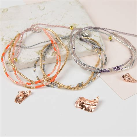 colourful japanese miyuki bead bracelet by home