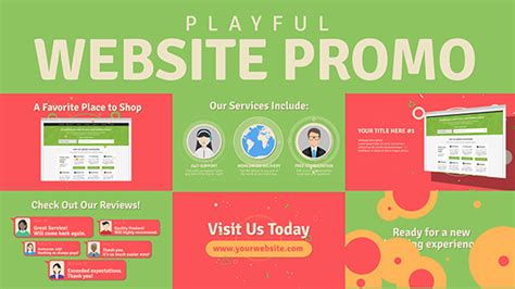 Playful Website Promo Websites After Effects Templates F5 Design Com Website Promo After Effects Template Free