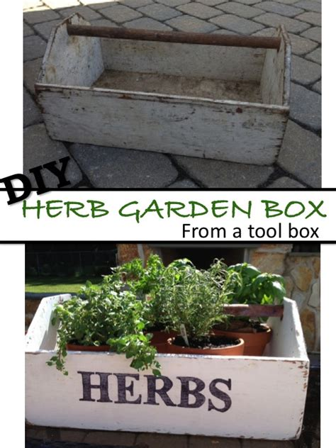 diy herb garden box two it yourself diy herb garden box from an old toolbox