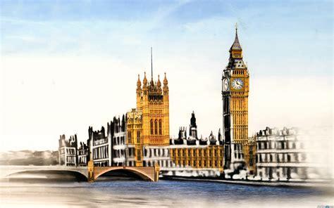 wallpaper london cartoon 伦敦大本钟高清电脑桌面壁纸 风景壁纸 壁纸下载 美桌网