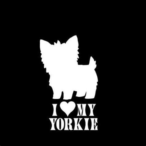 my yorkie i my yorkie 1 car window decal sticker 5 quot automotive 1s