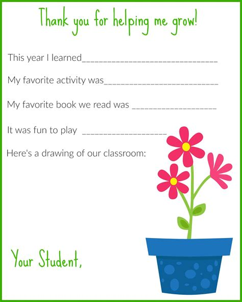 Free Thank You Card Templates For Teachers