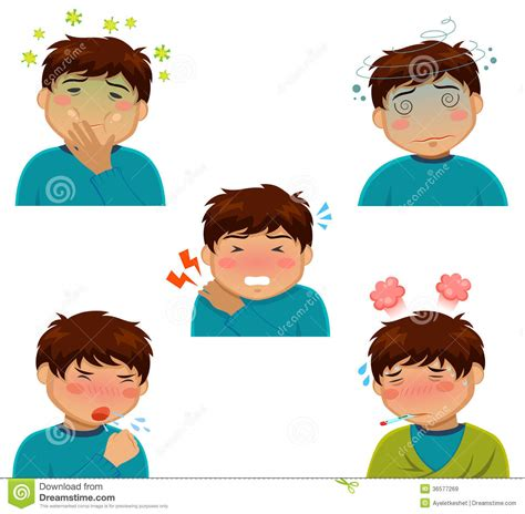 sick symptoms illness symptoms stock vector illustration of 36577269