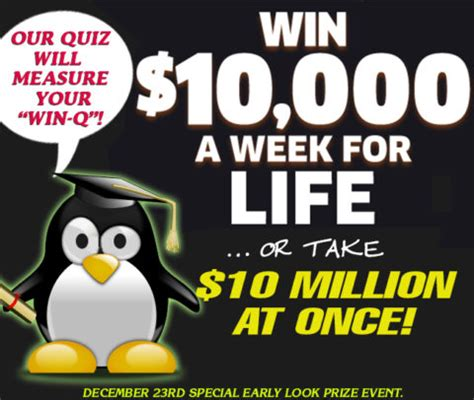 Pch 10000 A Week - which prize payout would you choose take our quiz and