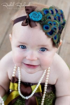 baby headband peacock feather silk flower and bow or rhinestone for infants toddler or big