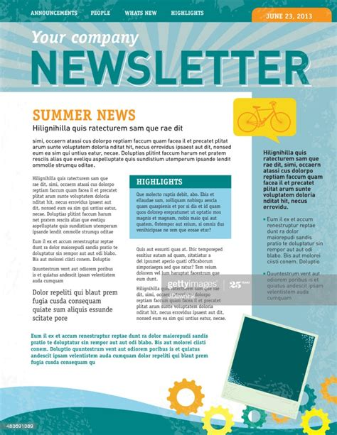 company newsletter design template high res vector graphic