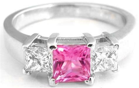 buy affordable pink sapphire engagement rings with