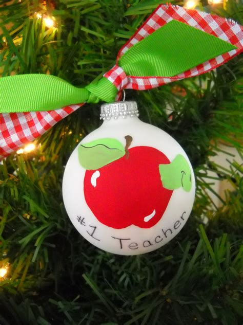 number 1 teacher ornament teacher christmas gift