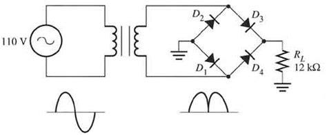 4 diode bridge rectifier four diode wave bridge rectifier