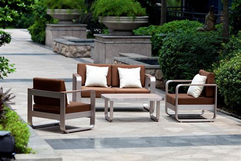 brushed aluminum brushed aluminum outdoor furniture
