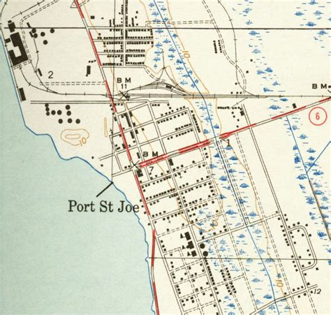 map of florida ports map of port st joe 1943 florida