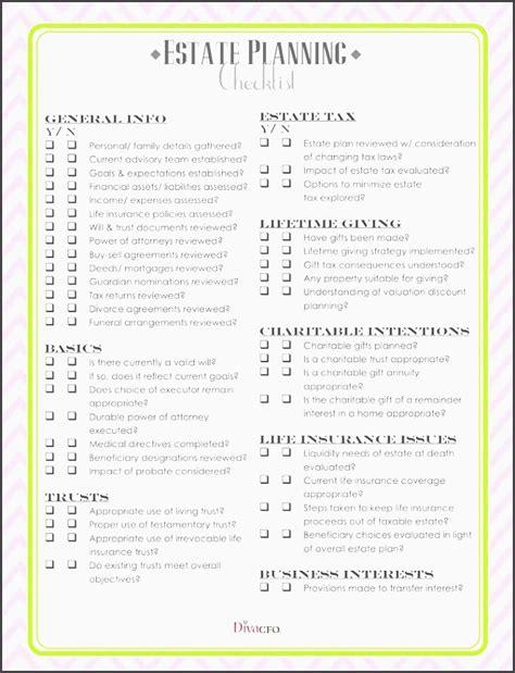 7 Estate Planning Checklist Exle Sletemplatess Sletemplatess Will And Estate Planning Template