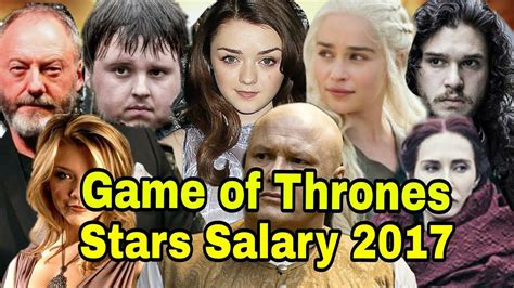 cast of game of thrones paid game of thrones cast salary per episode gameswalls org