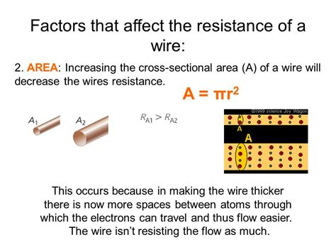 cross sectional area of a wire ohm s law resistance of a wire ppt video online download