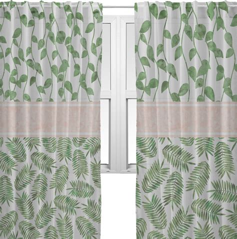 tropical sheer curtains tropical leaves sheer curtains personalized youcustomizeit