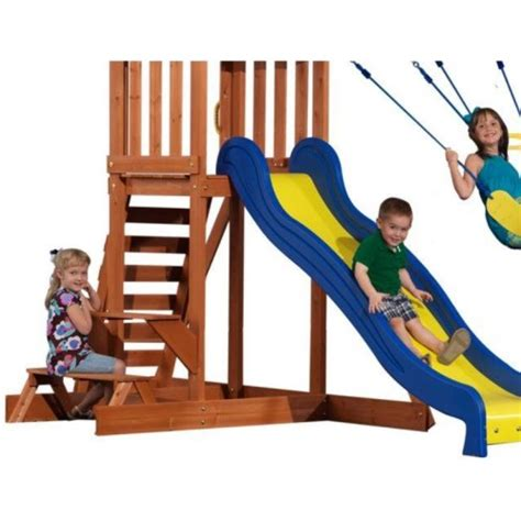 providence swings providence wood play set 40112com playhouse and slide with