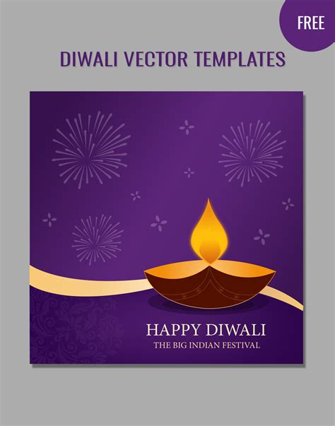 free diwali cards templates diwali vector templates