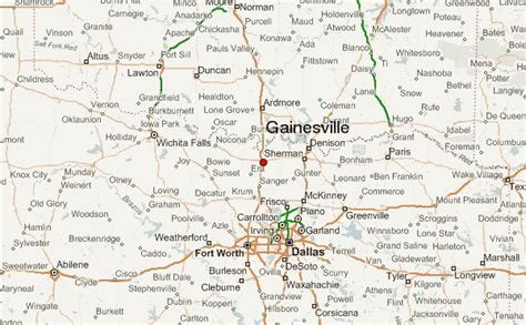 map of gainesville texas gu 237 a urbano de gainesville texas