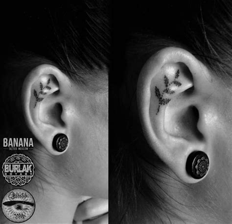 tattoo behind ear fading the 25 best inner ear tattoo ideas on pinterest ear