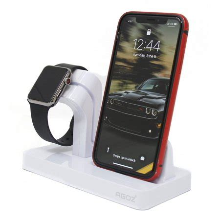 white charging dock stand station charger holder for apple iwatch series 4 3 2 1 iphone