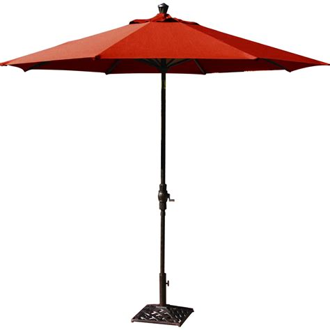 Metal Patio Umbrella Darlee 9 Ft Aluminum Auto Tilt Patio Market Umbrella Paprika Ultimate Patio