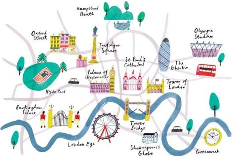 river thames attractions map top 5 illustrated maps of london lovell johns