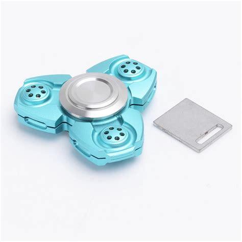 Spinner Aluminium Focus Toys by Edc Spinner Fidget Spinner Tri Spinner Focus