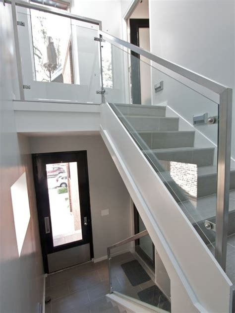 glass banisters glass railing home design ideas pictures remodel and decor