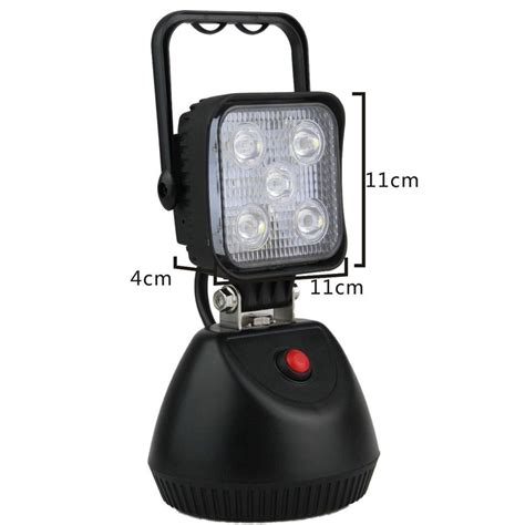 rechargeable led work light with magnetic base 15w rechargeable portable led work light with magnetic