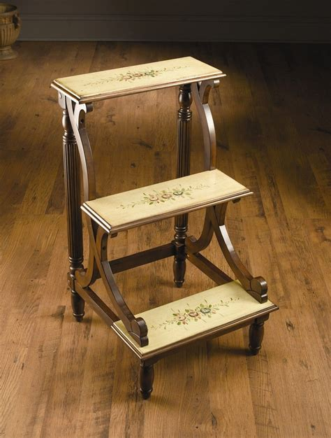 Three Step Stool Wooden by 3 Step Wood Library Step Stool Library Steps