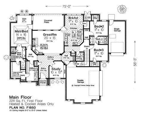 Fillmore Plans by Fillmore Design Floor Plans Floor Matttroy