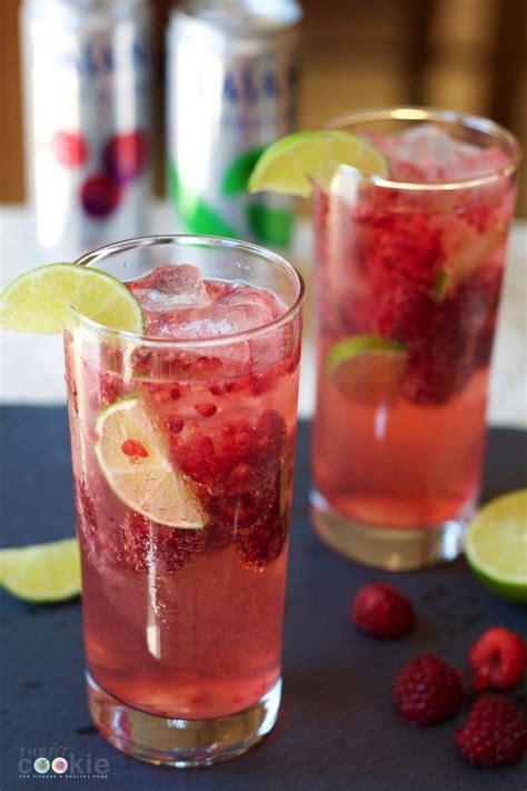 simple raspberry lime coolatta raspberry lime sparkling water mocktail low carb the fit cookie